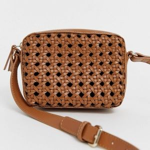a s o s • leather woven bag